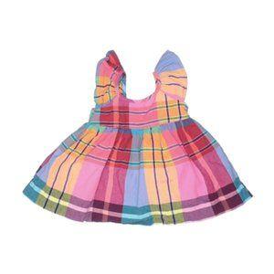Baby GAP Rainbow Plaid Dress - 0-3 Months